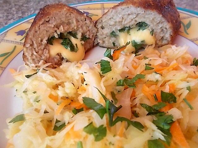 Roladki mielone z żółtym serem