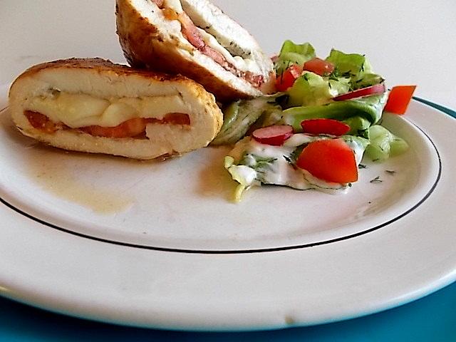 Filet kurczaka z mozzarellą
