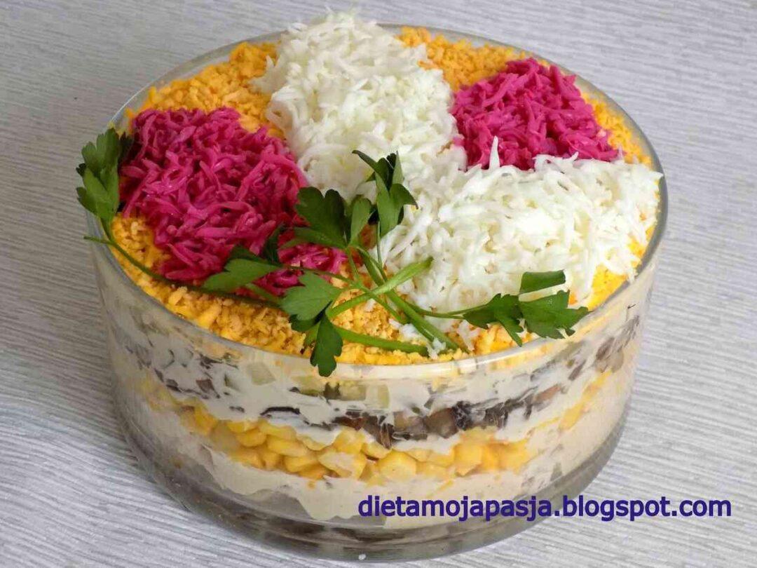 Sałatka imprezowa kwiaty bzu