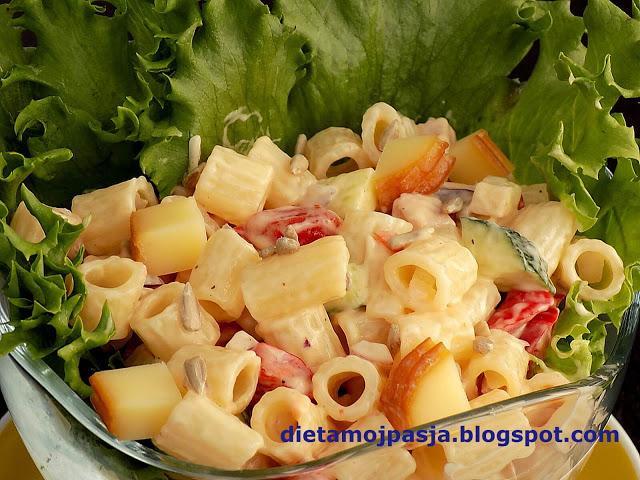 Błyskawiczna sałatka makaronowa
