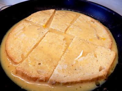 Placek chlebowy a`la pizza