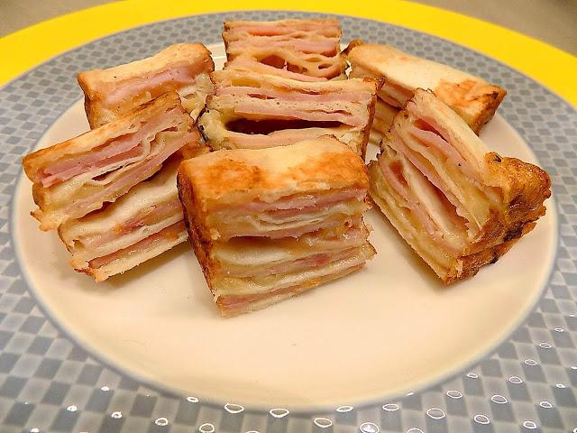 Roladki z serem i szynką - przekąska na 2 kęsy