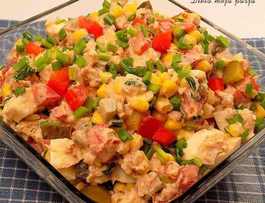 Sałatka z tuńczykiem i jajkami