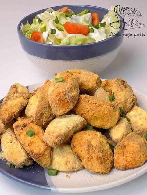 Ziemniaki w mące pieczone