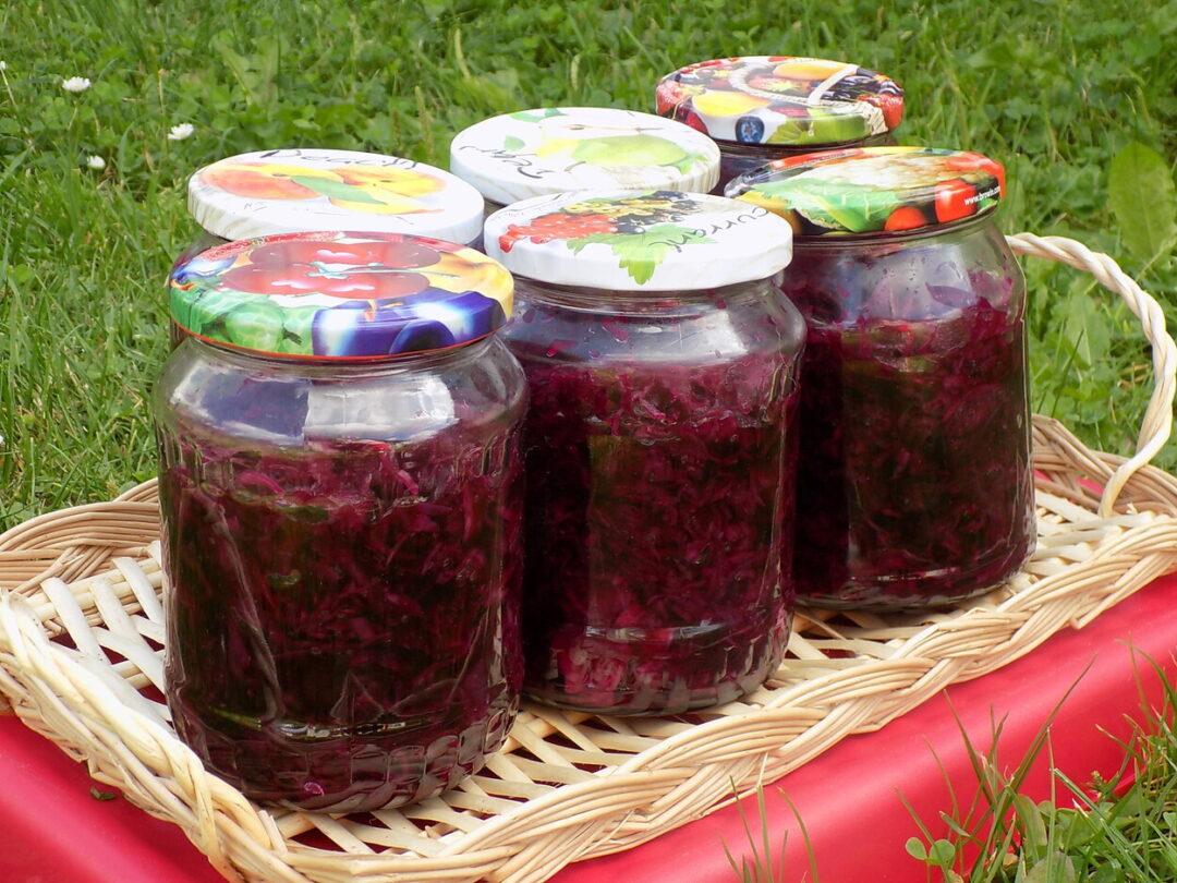 słoiki z sałatką z kapusty czerwonej - Kapusta czerwona do słoików