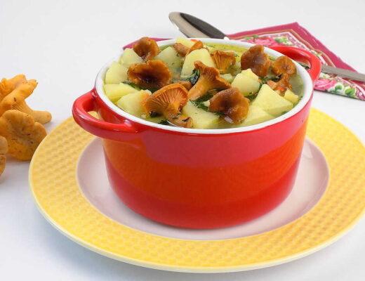 zupa z kurek z ziemniakami i koperkiem - zupa kurkowa przepis