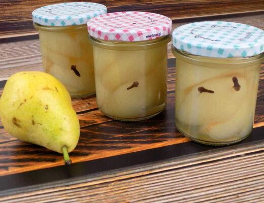 gruszki marynowane w occie - gruszki w occie