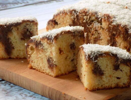 ciasto z masą krówkową i kokosem - Ciasto krówka przepis